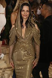May 7, 2018 - New York City, New York, U.S. - Actress JULIETTE BINOCHE attends the Costume Institute Benefit celebrating the opening of Heavenly Bodies: Fashion and the Catholic Imagination exhibit held at at The Metropolitan Museum of Art. (Credit Image: © Nancy Kaszerman via ZUMA Wire)