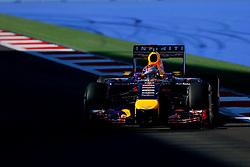 10.10.2014, Sochi Autodrom, Sotschi, RUS, FIA, Formel 1, Grosser Preis von Russland, Training, im Bild Sebastian Vettel (GER) Red Bull Racing RB10. // during the Practice of the FIA Formula 1 Russia Grand Prix at the Sochi Autodrom in Sotschi, Russia on 2014/10/10. EXPA Pictures © 2014, PhotoCredit: EXPA/ Sutton Images/ Martini<br /> <br /> *****ATTENTION - for AUT, SLO, CRO, SRB, BIH, MAZ only*****