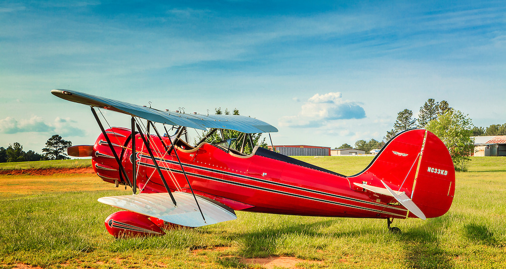 Ron Alexander's WACO, photographed at Peachstate Aerodrome, Near Williamson, Ga.