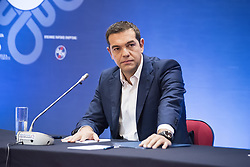 September 10, 2017 - Thessaloniki, Greece - Greek Prime Minister Alexis Tsipras gives a news conference during the Thessaloniki International Trade Fair 2017, at the northern Greek city of Thessaloniki. (Credit Image: © Giannis Papanikos via ZUMA Wire)