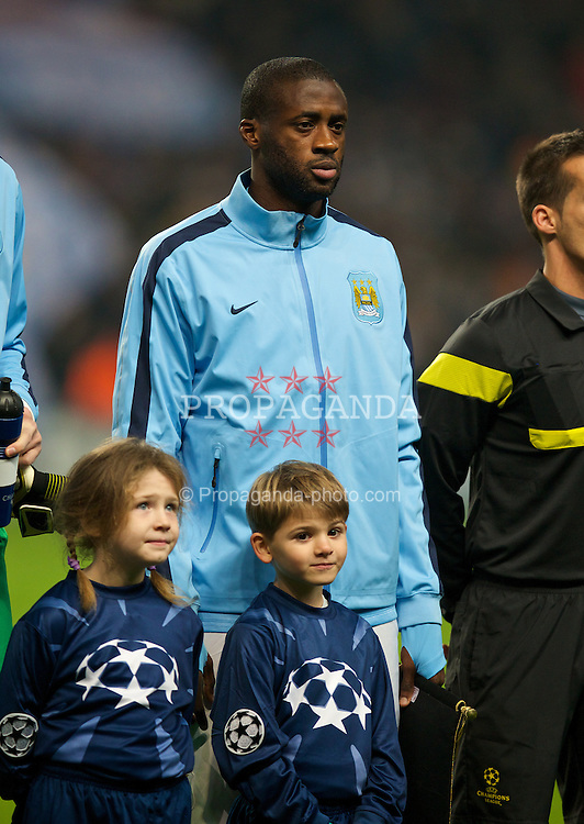 MANCHESTER, ENGLAND - Tuesday, November 5, 2013: Manchester City's Yaya Toure before the UEFA Champions League Group D match against CSKA Moscow at the City of Manchester Stadium. (Pic by David Rawcliffe/Propaganda)
