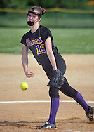 Upper Moreland's Amber O'Connor  #19 throws a pitch against Bishop Shanahan in the third inning Friday May 27, 2016 at Upper Moreland High School in Willow Grove, Pennsylvania. (Photo by William Thomas Cain)