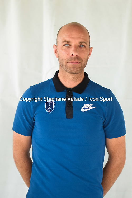 Herve Gallorini during photoshooting of Paris FC for new season 2017/2018 on October 17, 2017 in Paris, France<br /> Photo : Stephane Valade / Icon Sport