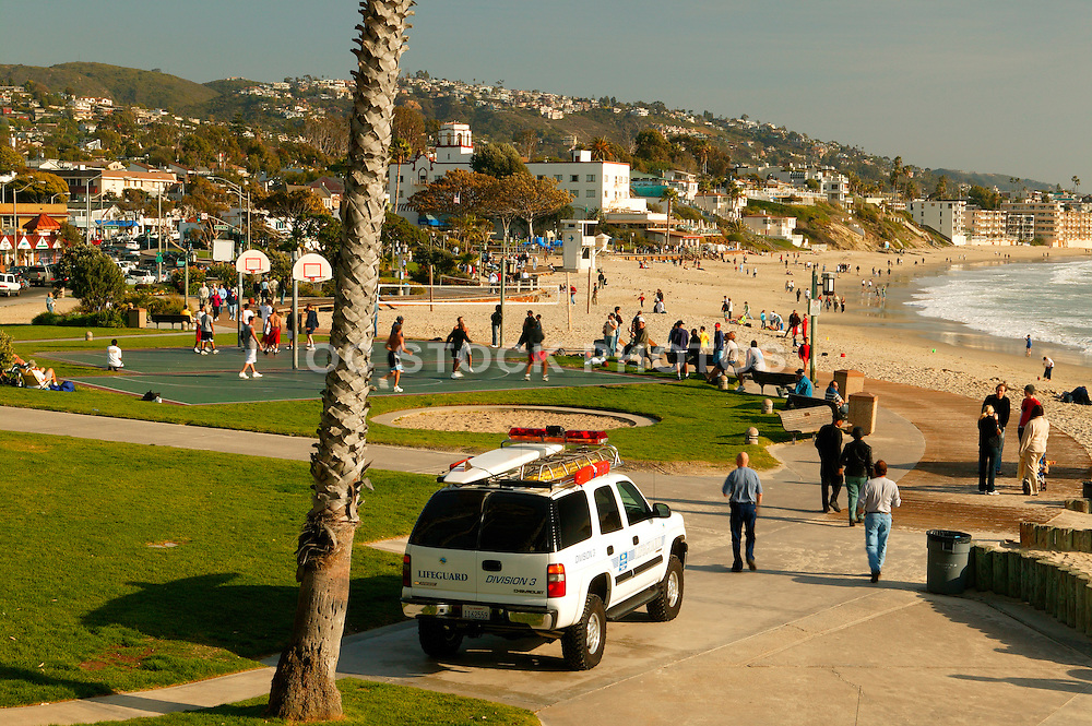 Main Beach Activities at Laguna Beach, California