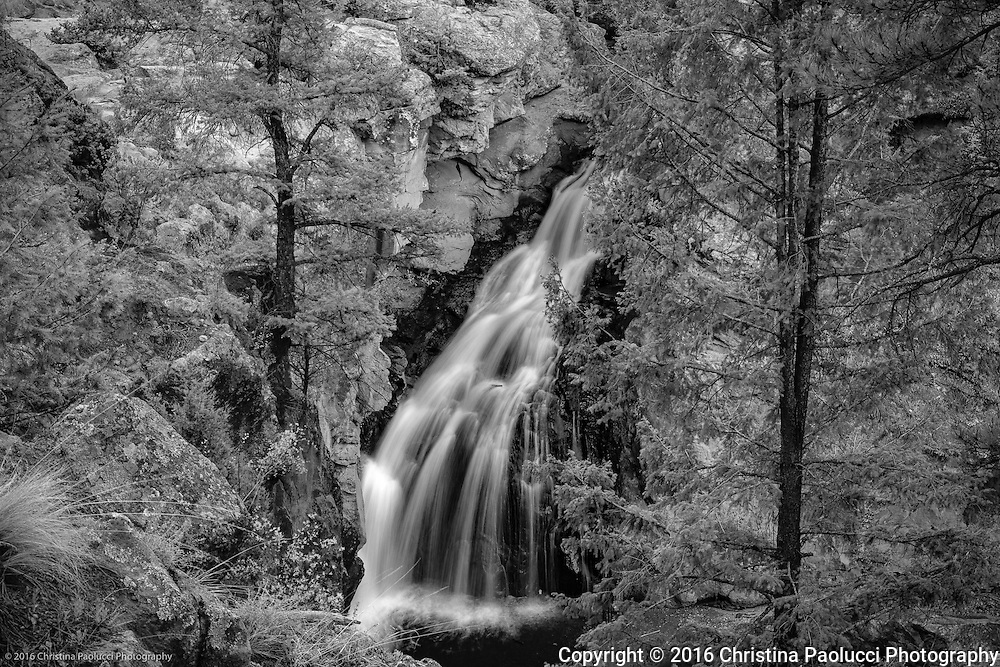 Jemez Springs Waterfall in New Mexico. (Christina Paolucci, photographer).