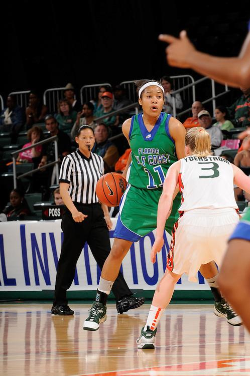 2010 FLORIDA GULF COAST UNIVERSITY Women's Basketball @ Miami - First Round Women's NIT