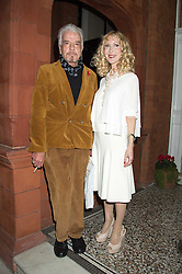 BASIA BRIGGS and NICKY HASLAM at a reception to celebrate the publication of Quicksilver by HRH Princess Michael of Kent held at the home of Richard & Basia Briggs, 35 Sloane Gardens, London on 9th November 2015.
