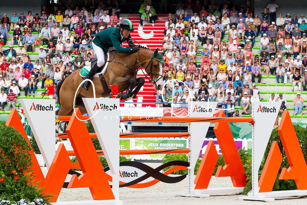 Cameron Hanley, (IRL), Antello Z - World Champions, - Second Round Team Competition - Alltech FEI World Equestrian Games™ 2014 - Normandy, France.<br /> © Hippo Foto Team - Leanjo De Koster<br /> 25/06/14