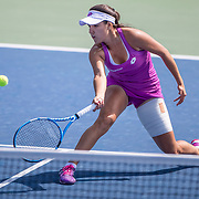 2019 US Open Tennis Tournament- Day Fourteen.   Maria Camila Osorio Serrano of Colombia in action against Alexandra Yepifanova of the United States in the Junior Girls Singles Final on court seventeen during the 2019 US Open Tennis Tournament at the USTA Billie Jean King National Tennis Center on September 8th, 2019 in Flushing, Queens, New York City.  (Photo by Tim Clayton/Corbis via Getty Images)