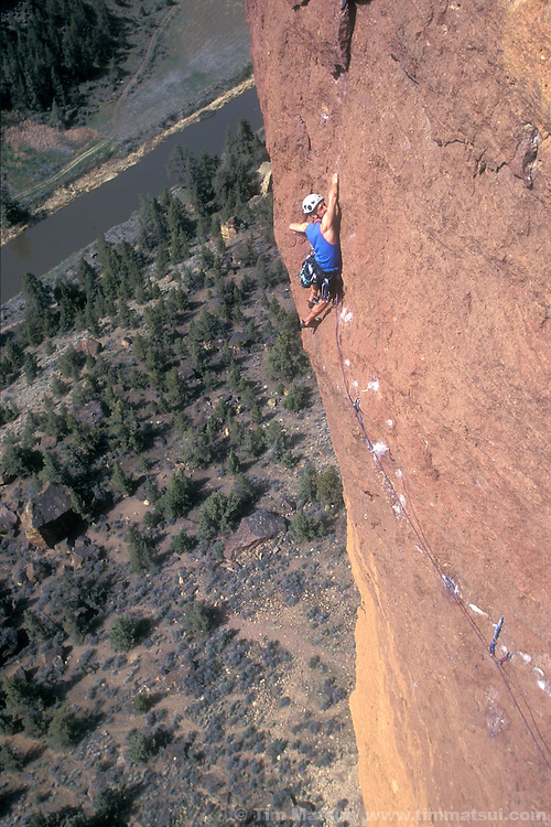 Marshall Balick on Monkey Space, 5.11c, Smith Rock OR.