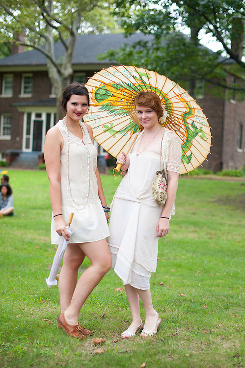 Two Girls in White Dresses, Jazz Age Lawn Party