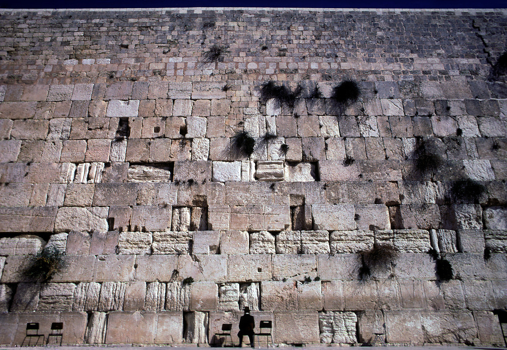 "The ""Wailing Wall"" or Western Wall, Jerusalem."