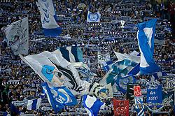 24.03.2010, Arena AufSchalke, Gelsenkirchen, GER, DFB Pokal, Schalke 04 vs  FC Bayern Muenchen im Bild Schalke Fan Kurve EXPA Pictures © 2010, PhotoCredit: EXPA/ nph/   Kokenge / SPORTIDA PHOTO AGENCY