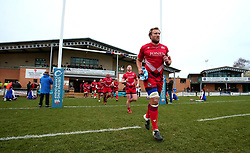 Caption Correction: Jordan Crane of Bristol Rugby leads his side out at Doncaster Knights - Mandatory by-line: Robbie Stephenson/JMP - 02/12/2017 - RUGBY - Castle Park - Doncaster, England - Doncaster Knights v Bristol Rugby - Greene King IPA Championship