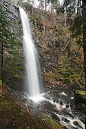 Plodda Falls, Glen Affric, Tomich, Scottish Highlands, Uk