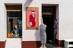 Small independent fashion boutique , Rosina, in Kreuzberg Berlin Germany