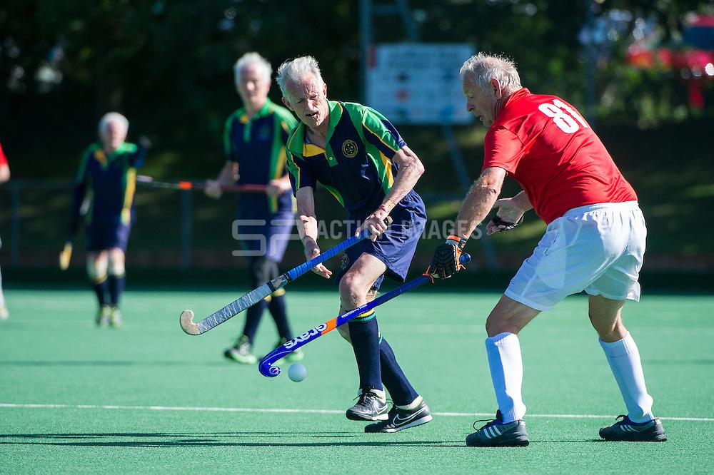 Euro Master Hockey Championships, Trent Park, Southgate, London, UK on 28 August 2015. Photo: Simon Parker