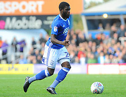 Jeremie Boga of Birmingham City runs with the ball - Mandatory by-line: Nizaam Jones/JMP - 29/10/2017 - FOOTBALL - St Andrew's Stadium - Birmingham, England - Birmingham City v Aston Villa - Sky Bet Championship