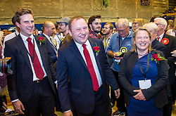 Pictured: Ian Murray and his partner Hannah Woolfson<br /> The Edinburgh Count and  announcements ended  around 4:30 this morning with weary heads around all parties.<br /> <br /> Ger Harley | EEm 9 June 2017