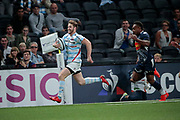 Louis Dupichot (Racing 92) scored a try after crossed all the playground during the French championship Top 14 Rugby Union match between Racing 92 and SU Agen on September 8, 2018 at U Arena in Nanterre, France - Photo Stephane Allaman / ProSportsImages / DPPI