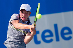 Matic Podlipnik (SLO) play against Domen Gostincar (SLO) at ATP Challenger Zavarovalnica Sava Slovenia Open 2017, on August 4, 2017 in Sports centre, Portoroz/Portorose, Slovenia. Photo by Urban Urbanc / Sportida