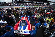 June 14-19, 2016: 24 hours of Le Mans. 68 FORD CHIP GANASSI, FORD GT, Joey HAND, Dirk MÜLLER, Sébastien BOURDAIS, LM GTE Pro