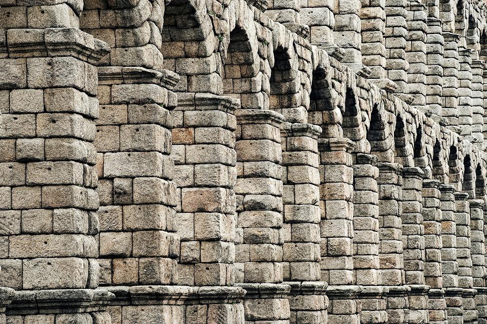 Roman aquaduct, Segovia, Spain