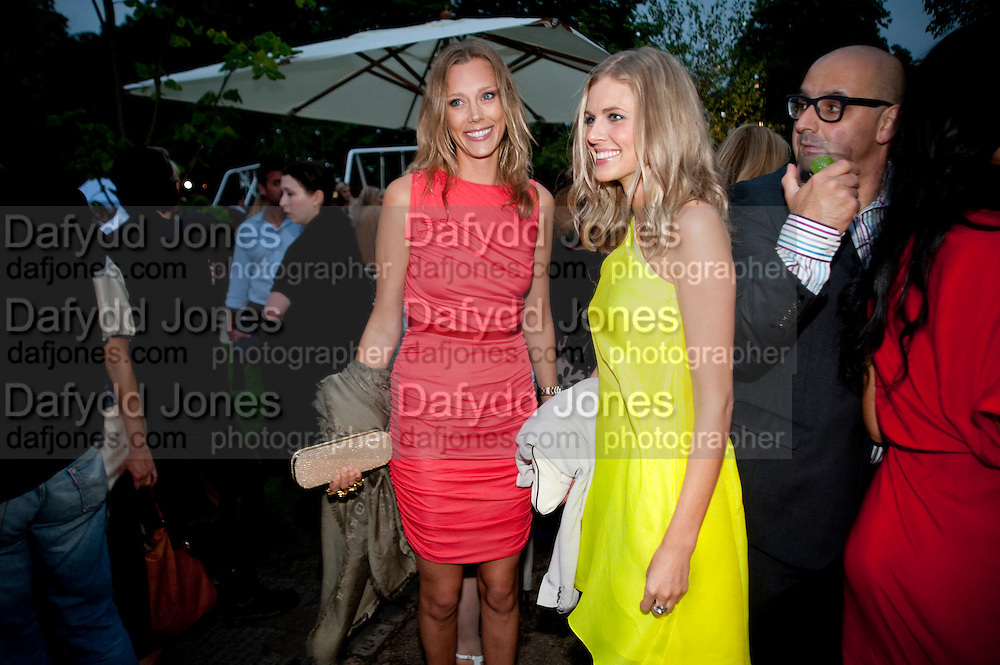 LISA HENREKSON; DONNA AIR, The Summer party 2011 co-hosted by Burberry. The Summer pavilion designed by Peter Zumthor. Serpentine Gallery. Kensington Gardens. London. 28 June 2011. <br /> <br />  , -DO NOT ARCHIVE-© Copyright Photograph by Dafydd Jones. 248 Clapham Rd. London SW9 0PZ. Tel 0207 820 0771. www.dafjones.com.