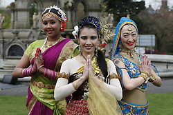 The O2 Glasgow Mela Launches in Style in Kelvingrove park. <br /> <br /> Dhuwaraha Rajathelakan of the Abhinaya Dance Group;<br /> Jun Zin of Myssack , The Malaysian Culture & Sports Group;<br /> and Katch Holmes of Desi Bravehearts