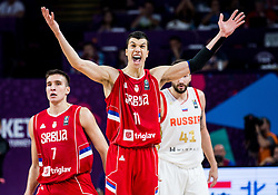 Vladimir Lucic of Serbia reacts during basketball match between National Teams of Russia and Serbia at Day 16 in Semifinal of the FIBA EuroBasket 2017 at Sinan Erdem Dome in Istanbul, Turkey on September 15, 2017. Photo by Vid Ponikvar / Sportida