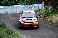 2019-09-07 | Linköping, Sweden: Henrik Carlzon / Stefan Ohlson during East Rally Sweden / Rally SM  at Linköping ( Photo by: Simon Holmgren | Swe Press Photo )<br /> <br /> Keywords: Linköping, Linköping, Rally, East Rally Sweden / Rally SM, ,