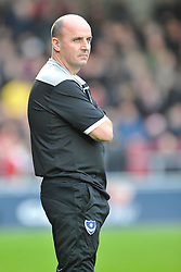 Paul Cook Manager Portsmouth, Northampton Town v Portsmouth, Sixfields, Sky Bet League 2, Saturday 19th December 2015