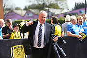 Portsmouth manager Kenny Jackett arrives at the Pirelli Stadium during the EFL Sky Bet League 1 match between Burton Albion and Portsmouth at the Pirelli Stadium, Burton upon Trent, England on 19 April 2019.