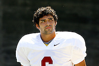 21 August 2008: Injured QB quarterback #6 Mark Sanchez during the USC Trojans Pac-10 NCAA College football team final intrasquad scrimmage of fall camp in front of 8,000 fans in the Los Angeles Memorial Coliseum near school campus.  White team (1st and 2nd teamers) defeated the Cardinal (reserves) team 28-7 on Thursday.
