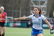 Eindhoven - Oranje Rood - Kampong  Dames, Hoofdklasse Hockey Heren, Seizoen 2017-2018, 15-04-2018, Oranje Rood - Kampong 3-1,  Georgina Oliva Isem (Kampong)<br /> <br /> (c) Willem Vernes Fotografie