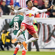 HARRISON, NEW JERSEY- APRIL 10:  Michael Murillo #62 of New York Red Bulls in action during the New York Red Bulls Vs C.D. Guadalajara CONCACAF Champions League Semi-final 2nd leg match at Red Bull Arena on April 10, 2018 in Harrison, New Jersey. (Photo by Tim Clayton/Corbis via Getty Images)