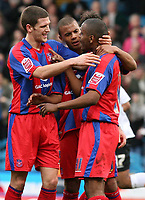 Photo: Alex Pelaez.<br /> Crystal Palace v Luton Town. Coca Cola Championship. 24/02/2007.<br /> Morrison of Palace celebrates his first goal with temates