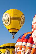 DEU, Germany, Sauerland region, Warstein, international balloon festival in Warstein [the balloon festival in Warstein is the biggest in Europe, more than 250 balloons from all over the world participate, sponsor is the Warsteiner brewery].<br /> <br /> DEU, Deutschland, Sauerland, Warstein, Internationale Montgolfiade in Warstein [die Montgolfiade in Warstein ist die groesste in Europa, es nehmen ueber 250 Ballone aus aller Welt teil, Sponsor ist die Warsteiner Brauerei].