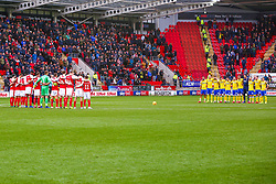 Rotherham United and Leeds United players stand during  minute's silence for Emiliano Sala and David Ibbotson - Mandatory by-line: Ryan Crockett/JMP - 26/01/2019 - FOOTBALL - Aesseal New York Stadium - Rotherham, England - Rotherham United v Leeds United - Sky Bet Championship