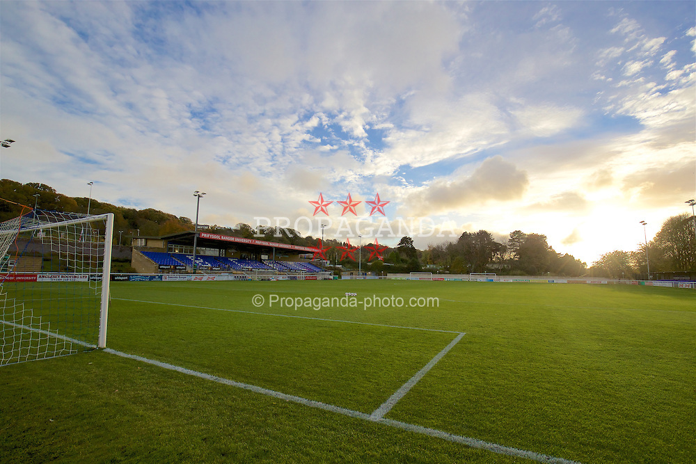 BANGOR, WALES - Saturday, November 12, 2016: A general view of the Naktporth Stadium before the UEFA European Under-19 Championship Qualifying Round Group 6 match between Wales and England. (Pic by Gavin Trafford/Propaganda)