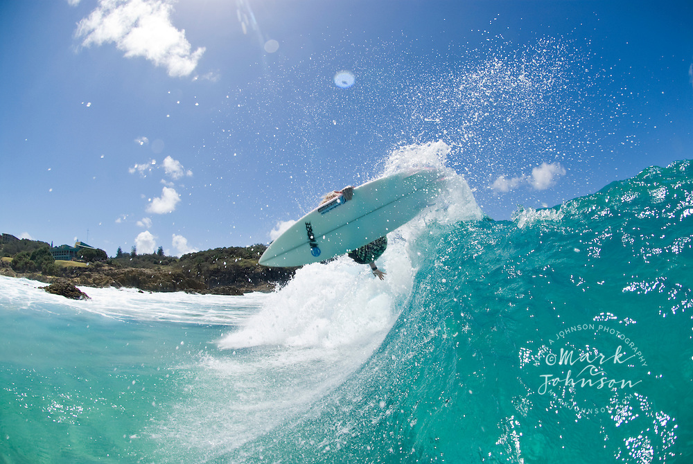 Surfer aerial, Australia