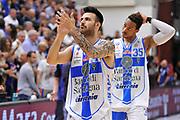 DESCRIZIONE : Campionato 2014/15 Dinamo Banco di Sardegna Sassari - Dolomiti Energia Aquila Trento Playoff Quarti di Finale Gara4<br /> GIOCATORE : Brian Sacchetti<br /> CATEGORIA : Postgame Ritratto Esultanza Ritratto<br /> SQUADRA : Dinamo Banco di Sardegna Sassari<br /> EVENTO : LegaBasket Serie A Beko 2014/2015 Playoff Quarti di Finale Gara4<br /> GARA : Dinamo Banco di Sardegna Sassari - Dolomiti Energia Aquila Trento Gara4<br /> DATA : 24/05/2015<br /> SPORT : Pallacanestro <br /> AUTORE : Agenzia Ciamillo-Castoria/C.AtzoriAUTORE : Agenzia Ciamillo-Castoria/C.Atzori