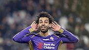 &copy; Filippo Alfero<br /> Juventus-Fiorentina, Semifinale Coppa Italia 2014/2015<br /> Torino, 05/03/2015<br /> sport calcio<br /> Nella foto: esultanza Mohamed Salah dopo gol
