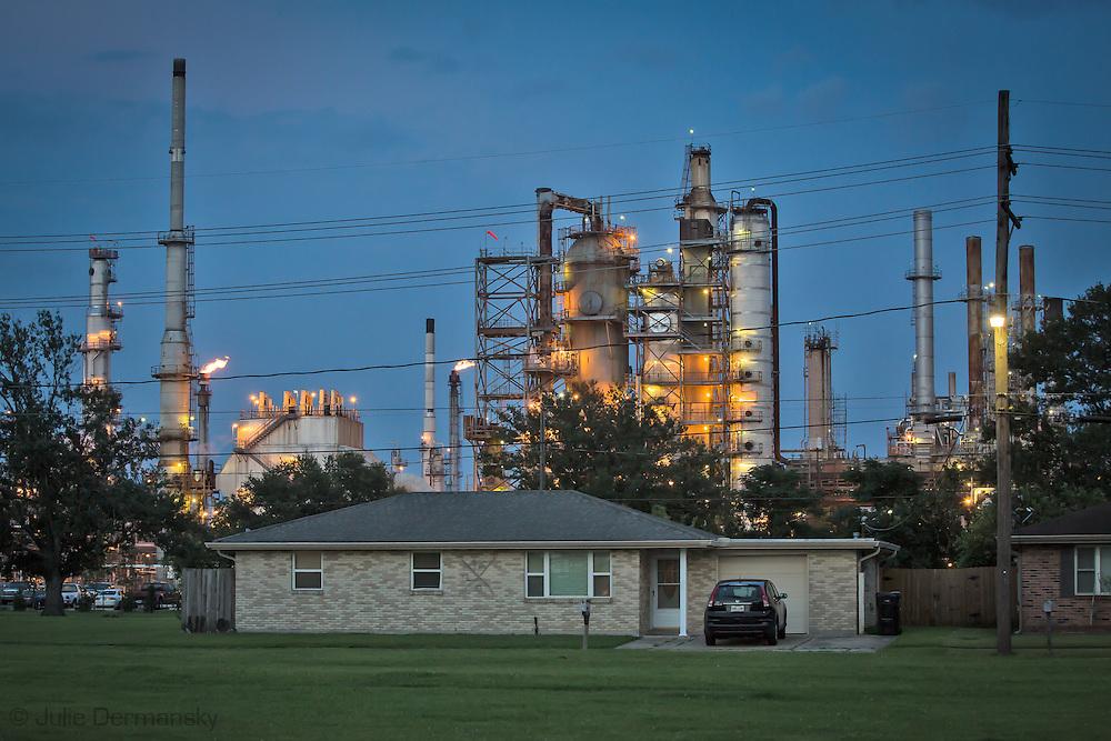 Home across from the Valero Energy refinery in Meraux, Louisiana.