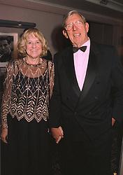 MR & MRS KEN TYRRELL the F1 team owner, at a dinner in London on 31st October 1997.MCR 23