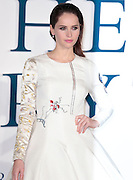 """Dec 9, 2014 - """"The Theory Of Everything"""" - UK Premiere - Red Carpet Arrivals at Odeon,  Leicester Square, London<br /> <br /> Pictured: Felicity Jones<br /> ©Exclusivepix Media"""