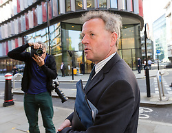© Licensed to London News Pictures. 15/05/2018. London, UK. ANDREW HILL arrives at The Old Bailey, Central Criminal Court in London for a plea hearing. Andrew Hill was the pilot of a vintage jet which crashed onto a dual carriageway during the Shoreham Airshow killing 11 men. Mr Hill appears charged with 11 counts of manslaughter and one count of endangering an aircraft, contrary to Article 137 of the Air Navigation Order 2009 after his Hawker Hunter jet crashed onto the A27 at Shoreham in West Sussex at 1.22pm on August 22, 2015. Photo credit: Vickie Flores/LNP