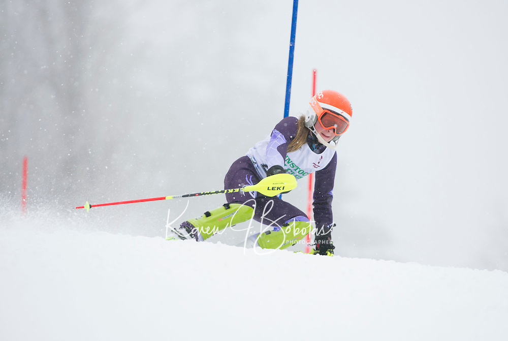Francis Piche Slalom U14 ladies Sunday, March 15, 2015.  Karen Bobotas Photographer