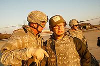 al franken on Tadji Base, Iraq<br />during USO tour<br /><br />photo by Owen Franken<br /><br />Dec , 2006