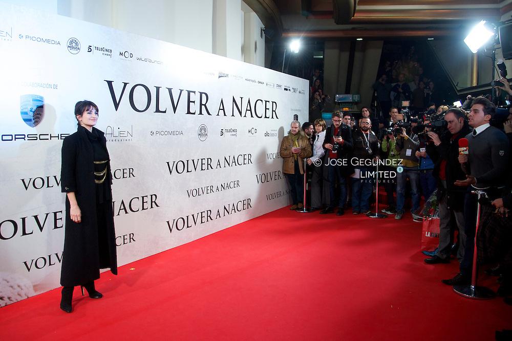 Spanish Actress Penelope Cruz attends 'Venuto Al Mondo' Premiere at Capitol Cinema in Madrid